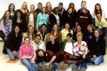 Joanna with her students in her Beauty and the Body class at the University of Nevada, Reno, Fall 2005